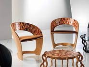 Wooden chair with armrests ARLECCHINO - Carpanelli Contemporary