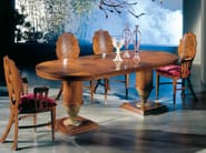 Cherry wood dining table QUADRIFOGLIO | Extending table - Carpanelli Classic