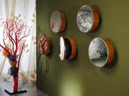 Round mirror with cabinet OBLÒ - Carpanelli Classic