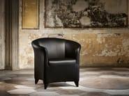 Upholstered leather armchair AURIANA | Armchair - Wittmann