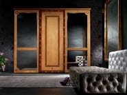 Mirrored wooden wardrobe with sliding doors SISSI | Wardrobe - Carpanelli Classic
