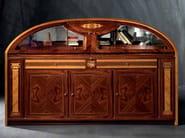 Wooden highboard with doors HERMITAGE | Highboard - Carpanelli Classic