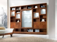 Open walnut bookcase POIS | Bookcase - Carpanelli Classic