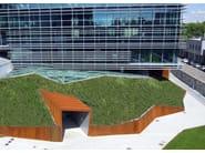 Perliroof - copertura a verde estensivo inclinato con materassini Growmat - Milano