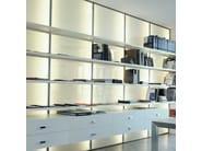 Wall-mounted storage wall STORE | Storage wall - ADIELLE
