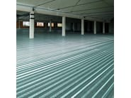 Steel-concrete loadbearing floor slab