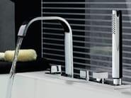 5 hole bathtub set with hand shower AGUABLU | Bathtub set - ZUCCHETTI