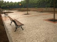 Concrete outdoor floor tiles STAMPED CONCRETE - IDEAL WORK