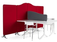 Sound absorbing workstation screen desktop partition SOFTLINE | Workstation screen desktop partition - Abstracta