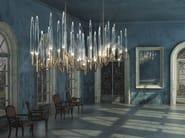 LED brass pendant lamp IL PEZZO 3 | Long Chandelier - Il Pezzo Mancante