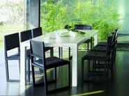 Sled base upholstered chair ZISA | Chair - Andreu World