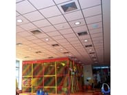 Sound absorbing mineral fibre ceiling tiles THERMOFON - Knauf AMF Italia Controsoffitti