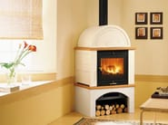 Wood-burning stove for air heating MOM | Wood-burning stove - Piazzetta