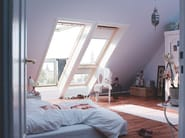 Manually operated wooden roof window VELUX Finestra balcone GDL 73 - VELUX