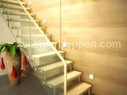 Self supporting Open staircase ATHEN - Siller Treppen