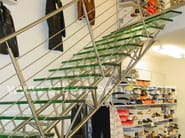 Self supporting Glass and Stainless Steel Open staircase CLASSIC GLASS - Siller Treppen
