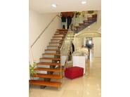 Self supporting stainless steel and wood Open staircase CLASSIC | Open staircase - Siller Treppen