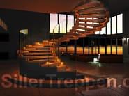Self supporting Spiral staircase COBRA - Siller Treppen