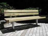 Wooden Bench with back BELVEDERE - A.U.ESSE
