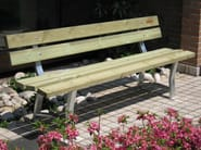 Wooden Bench with back GARDEN - A.U.ESSE