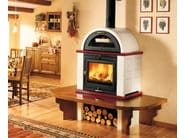 Wood-burning stove with Oven MOMF | Stove with Oven - Piazzetta