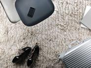 Solid-color linen rug FOGG STRIPE - Kasthall