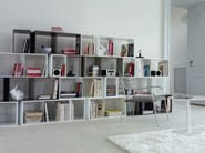 Open sectional modular bookcase CUTS - ROSET ITALIA