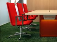 Chair with armrests with casters BASSO L | Chair with casters - Inno Interior Oy