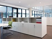Modular office storage unit with lock Modular office storage unit - ACTIU