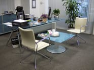 Square glass coffee table PEANA | Square coffee table - ACTIU