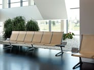 Beam seating with armrests PASSPORT - ACTIU