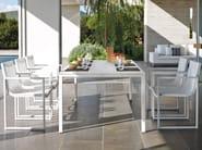Steel garden chair with armrests LATONA | Garden chair with armrests - MANUTTI