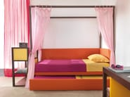 Trundle solid wood canopy bed 9002 | Bed - dearkids