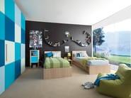 Wood veneer wardrobe 9003 | Wardrobe for kids' bedrooms - dearkids
