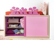 Loft bed with cabinet 9020 | Bed with cabinet - dearkids