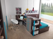 Wooden bed / writing desk COMPACT   Wooden writing desk - dearkids