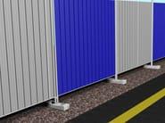 Construction site temporary and mobile fencing GRECATO - Siderurgica Ferro Bulloni
