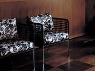 Upholstered steel armchair CAFÉ | Armchair - Living Divani