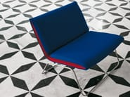 Upholstered armchair with removable cover LEAF | Armchair - Living Divani