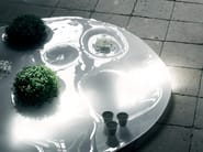 Low glass coffee table GARDEN PLATE - Living Divani