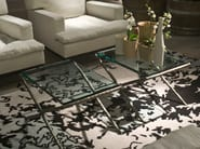 Rectangular crystal coffee table LITTLE NERO - Living Divani