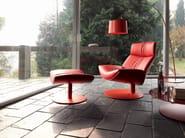 Armchair with footstool KARA | Armchair - Désirée