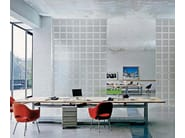 Indoor/outdoor glass 3D Wall Block DORIC - Seves S.p.A. Divisione Glassblock