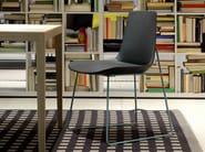 Sled base fabric chair