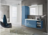 Wall-mounted vanity unit with mirror PLAY | Lacquered vanity unit - Cerasa