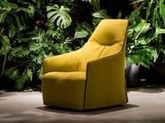 Upholstered fabric armchair SANTA MONICA LOUNGE - Poliform