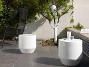 Garden armchair with footstool FIFTY - ROSET ITALIA