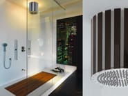 Rain shower with built-in lights LUMIERE - Bossini
