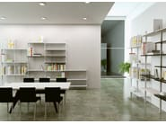 Modular extruded aluminium office shelving INUNO | Modular office shelving - STUDIO T