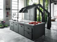 Fitted kitchen with island MINÀ PROFESSIONAL - Minacciolo